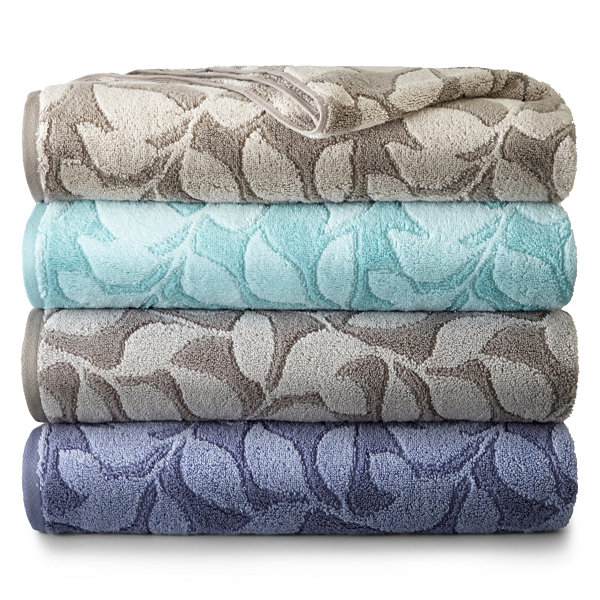 JCPenney Home Jacquard Leaves Bath Towel Collection - JCPenney