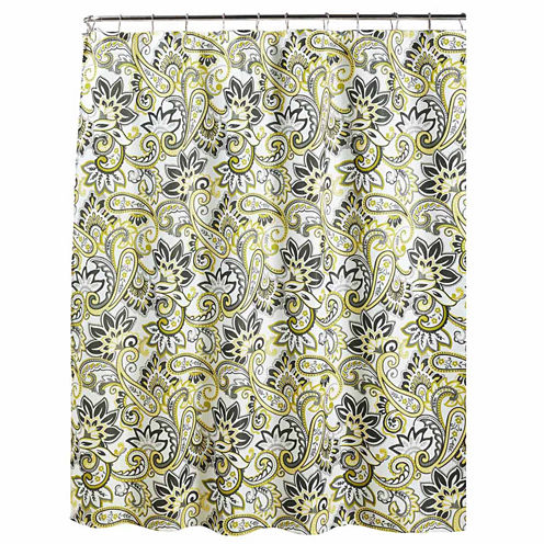 Ruiselede with Metal Hooks Shower Curtain Set