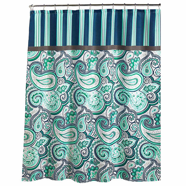 Persephone with Metal Hooks Shower Curtain Set