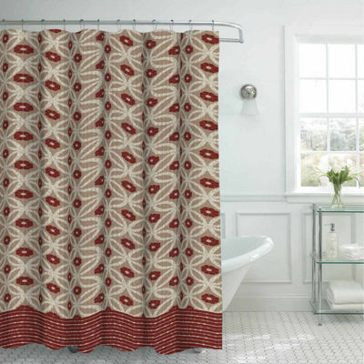 Hartford with 12 Metal Rings Shower Curtain Set