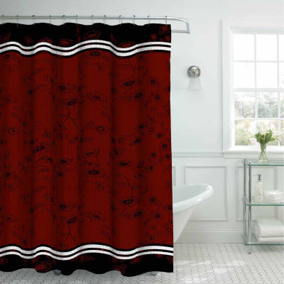 Kalista with 12 Metal Rings Shower Curtain Set
