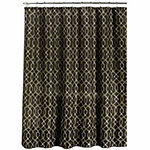 Ikat Geo W Mtl Hks Shower Curtain Set