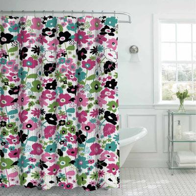 Stnclflrl W 12mtlrng Shower Curtain Set