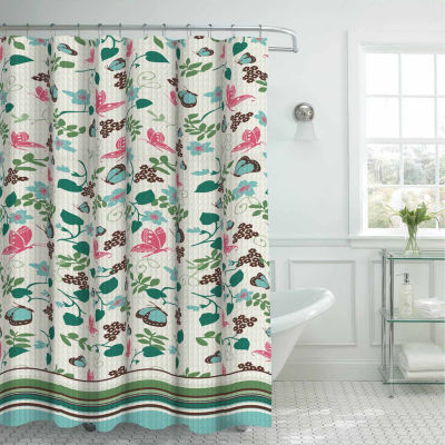 Fly Away with 12 Metal Rings Shower Curtain Set