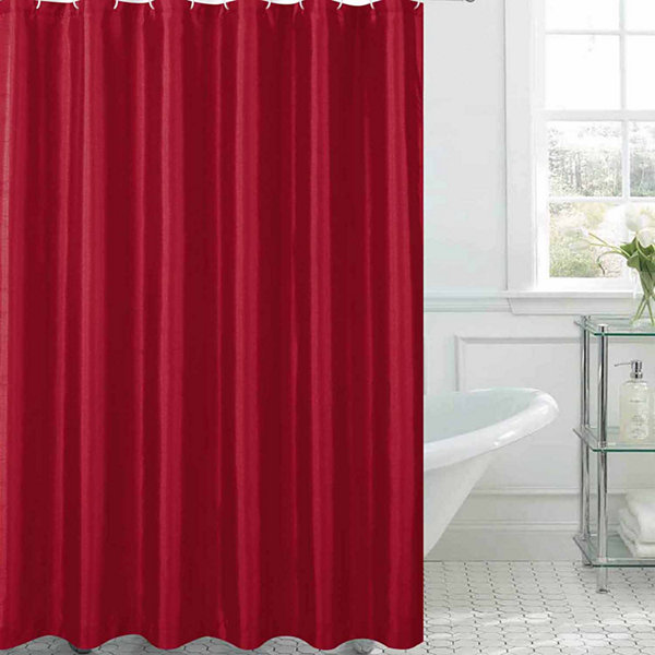 Jane Faux Silk Shower Curtain Set