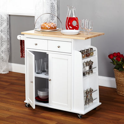 Sonoma Wood-Top Kitchen Cart