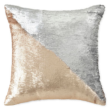 Jcpenney Gold Decorative Pillows : North Pole Trading Co. Mermaid Sequins Throw Pillow - JCPenney