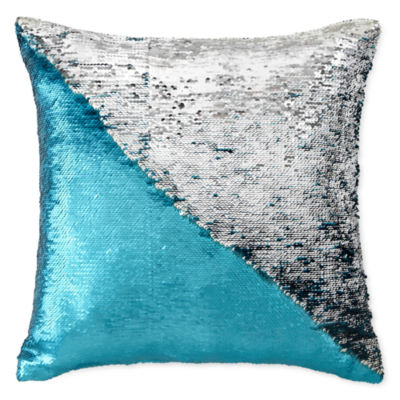 North Pole Trading Co. Mermaid Sequins Throw Pillow