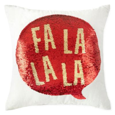 North Pole Trading Co. Fa-La-La-La Throw Pillow