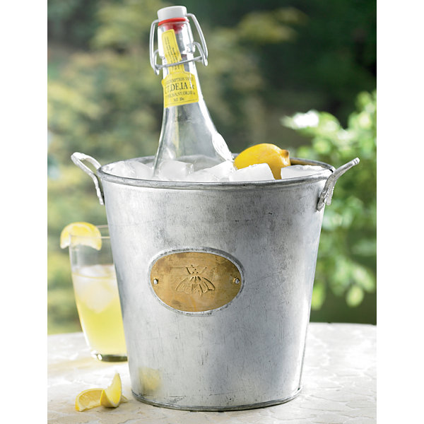 St. Croix Trading Kindwer Galvanized Bumble Bee Bucket