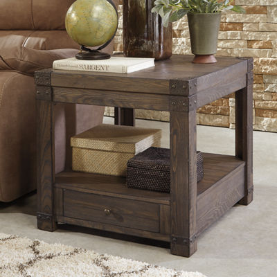 Signature Design by Ashley Burladen® 1-Drawer Storage End Table