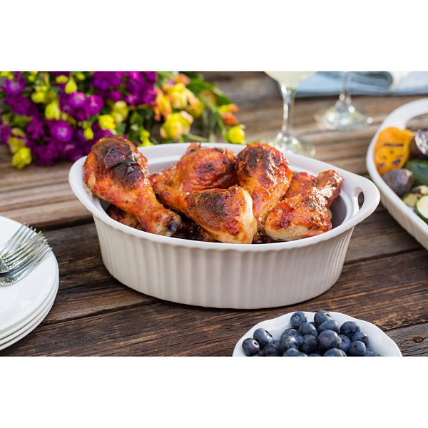 CorningWare® French White III 1½-qt. Covered Oval Casserole