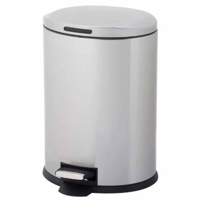 Home Zone® 12-Liter Oval Stainless Steel Trash Can