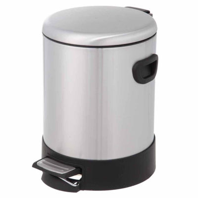Home Zone® 5-Liter Round Stainless Steel Trash Can With Dome Lid