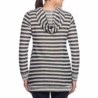 Lark Lane Salt And Pepper French Terry Hooded Top