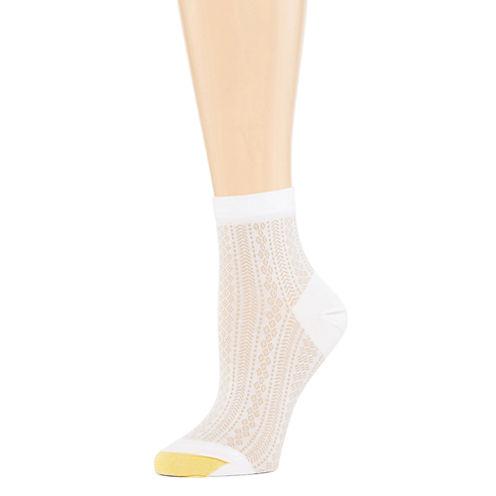 Gold Toe® Watercolor Floral Crew Socks