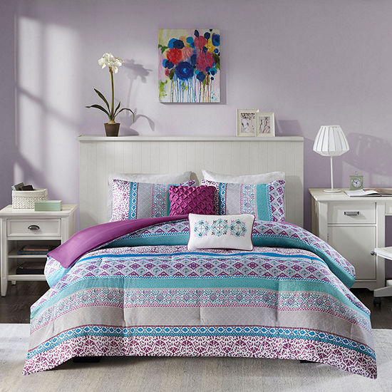 Intelligent Design Adley Bohemian Comforter Set