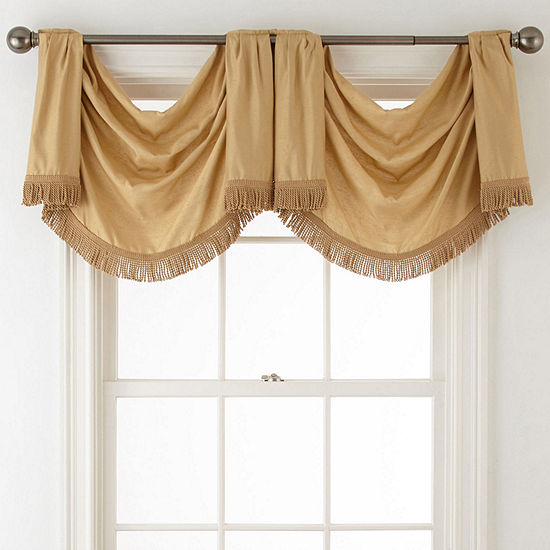 Royal Velvet Supreme Rod-Pocket Waterfall Valance