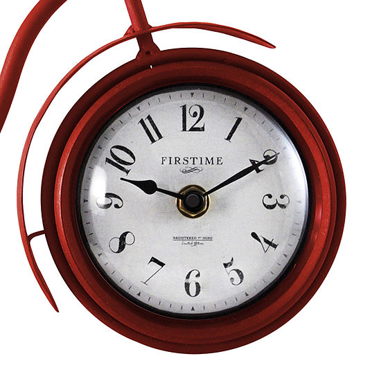 Firstime Red Bicycle Table Clock