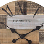 Firstime Reclaimed Pallets Wall Clock
