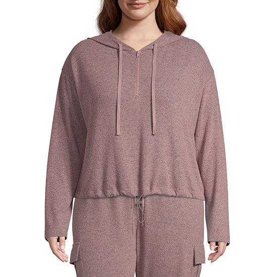 Inspired Hearts Womens Long Sleeve Knit Hoodie-Juniors