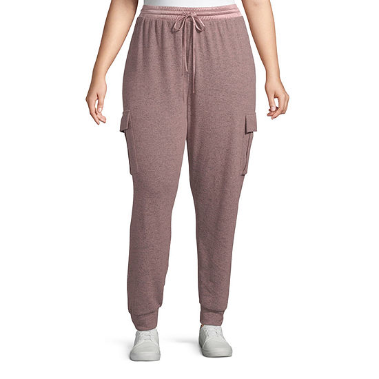Inspired Hearts Womens Mid Rise Jogger Pant-Juniors