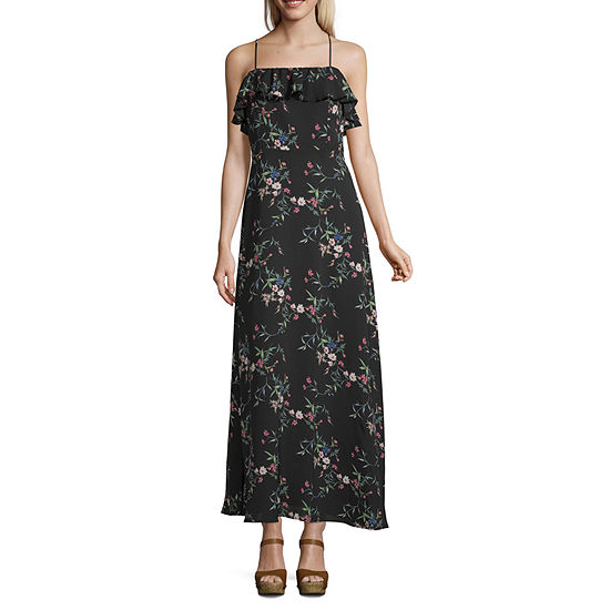 Speechless Sleeveless Floral Maxi Dress-Juniors