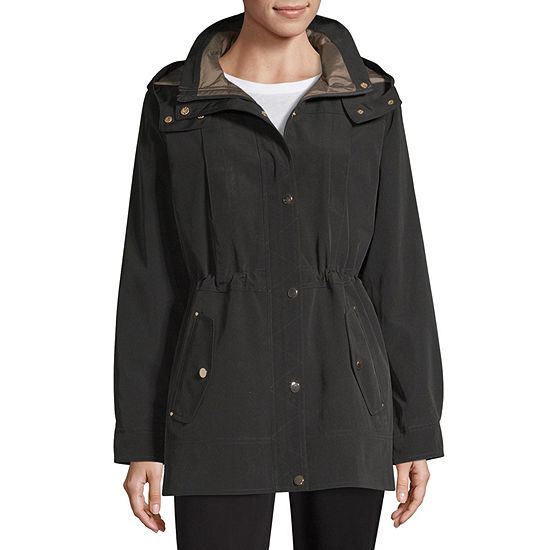 Liz Claiborne Hooded Water Resistant Midweight Anorak