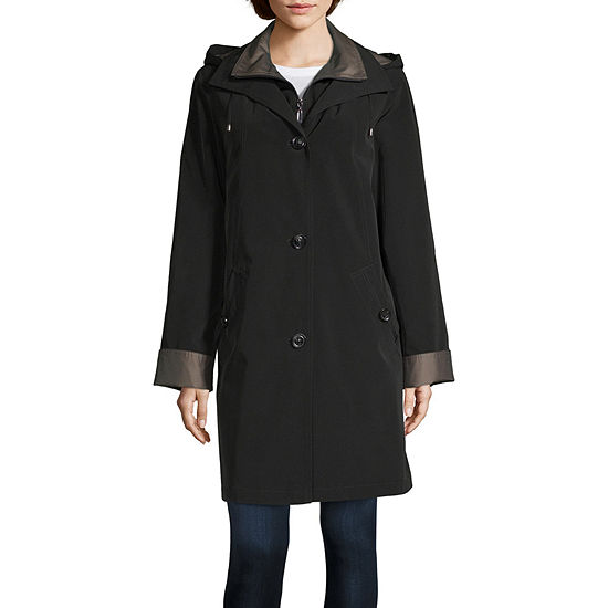 Miss Gallery Water Resistant Lightweight Raincoat