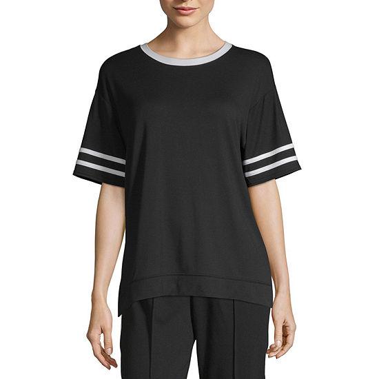 Flirtitude Juniors-Womens Crew Neck Short Sleeve T-Shirt