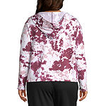Flirtitude Womens Long Sleeve Knit Hoodie-Juniors Plus