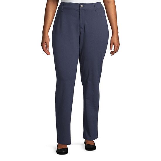 St. John's Bay Secretly Slender Womens Slim Pant-Plus