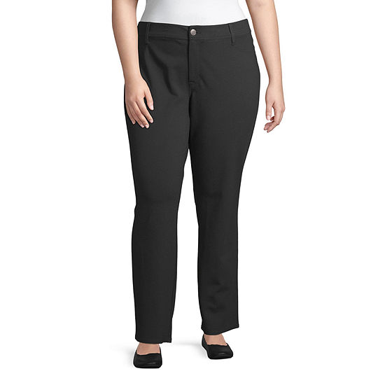 St. John's Bay Secretly Slender Womens Slim Pant-Plus