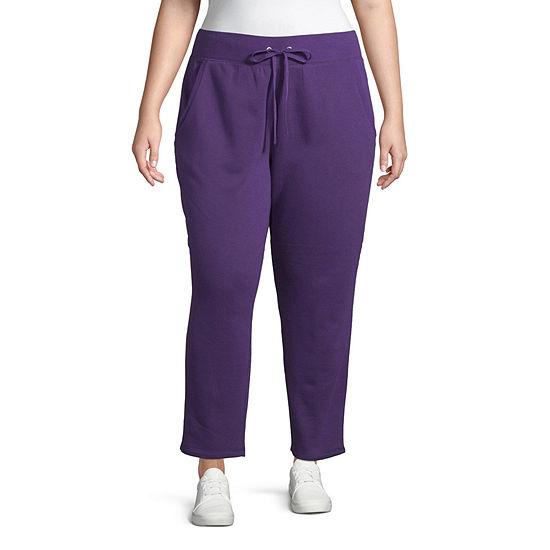 St. John's Bay Active Slim Leg Fleece Sweatpant - Plus