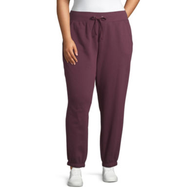 St. John's Bay Active Womens Mid Rise Cuffed Sweatpant-Plus