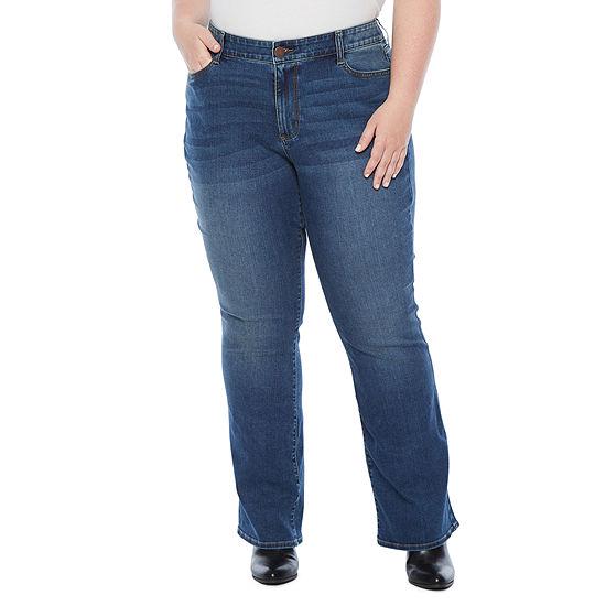 a.n.a Slim Fit Bootcut Jean - Plus