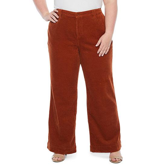 a.n.a Womens Wide Leg Corduroy Pant - Plus