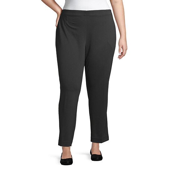 Liz Claiborne-Plus Womens Pull-On Pants