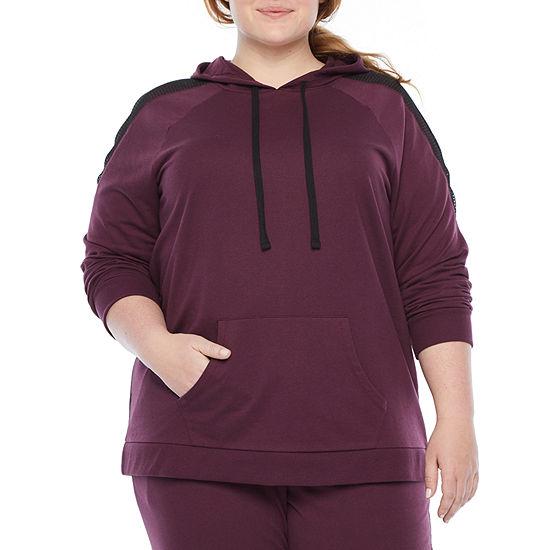 Xersion-Plus Womens Long Sleeve Fleece Hoodie