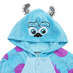 Disney Mjc Sulley Womens Fleece Monsters University Long Sleeve One Piece Pajama