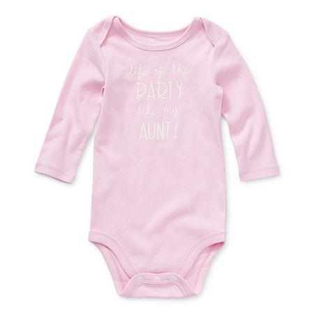Okie Dokie Baby Girls Bodysuit, 6 Months , Pink
