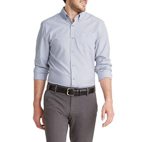 Dockers® Mens Signature Comfort Flex Long Sleeve Plaid Button-Down Shirt