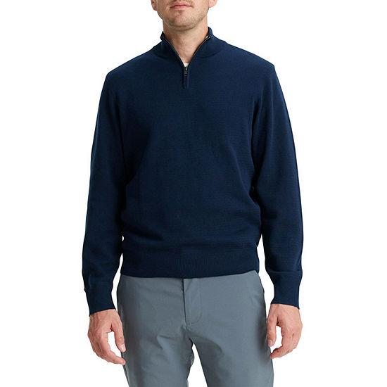 Dockers® 1/4 Zip Sweater Split Crew Neck Long Sleeve Knit Pullover Sweater