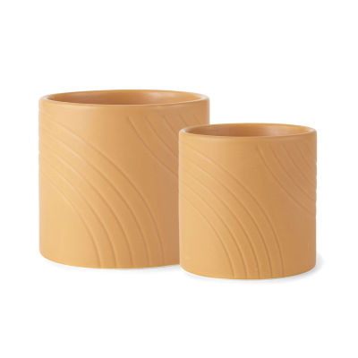Home Expressions Modern Retro Embossed Planter Collection