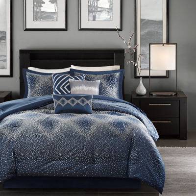 Madison Park Landon 7-pc. Jacquard Comforter Set