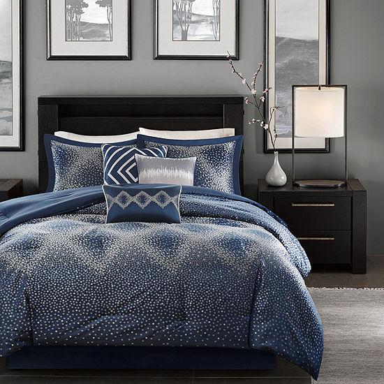 Madison Park Landon 7-pc. Jacquard Comforter Set