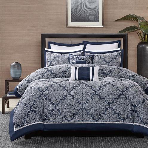 Madison Park Barrett 8-pc. Jacquard Comforter Set