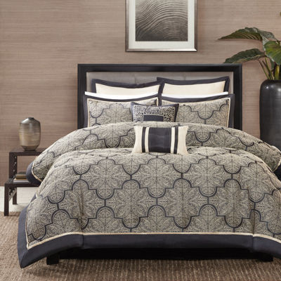 Madison Park Burton 8-pc. Jacquard Comforter Set