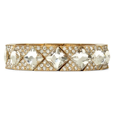 Natasha Crystal Gold-Tone Stretch Bracelet