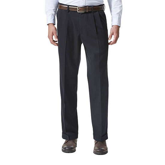 Dockers Relaxed Fit Comfort Khaki Cuffed Pants Pleated D4